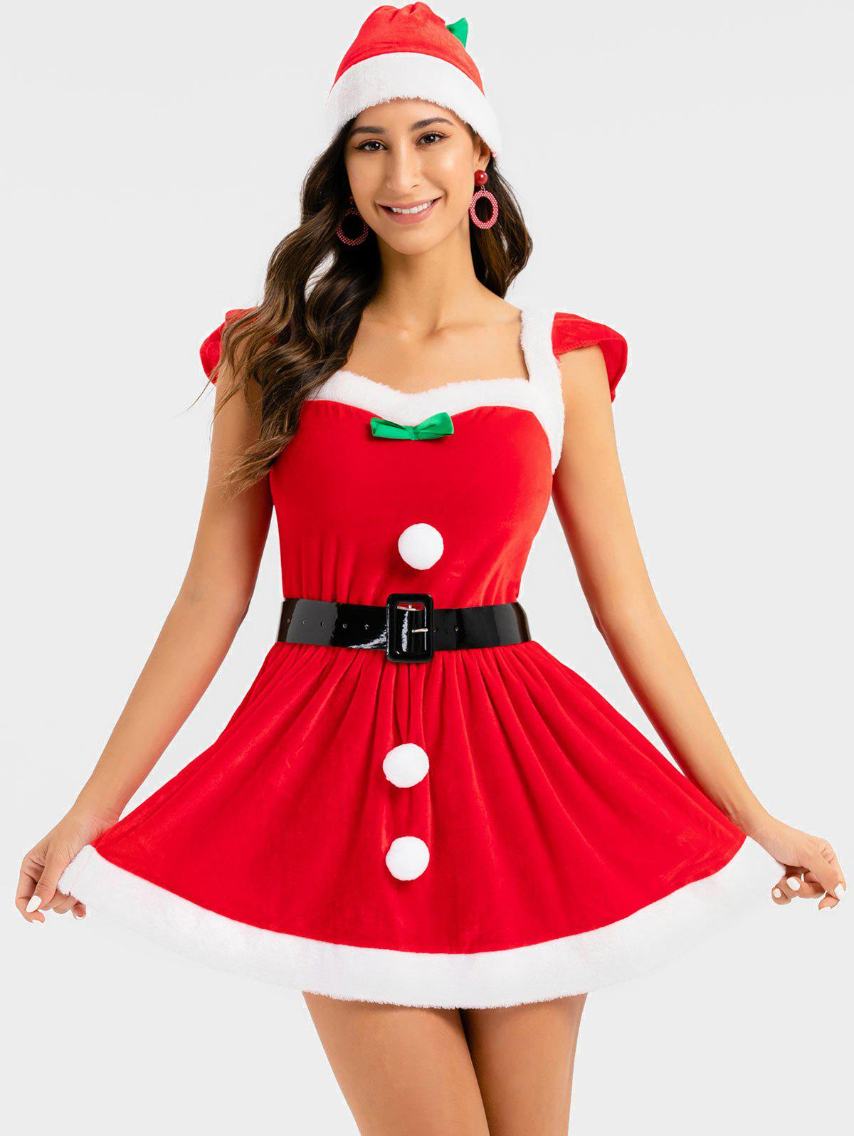 Latest Christmas Sweetheart Cosplay Santa Claus Dress with Hat