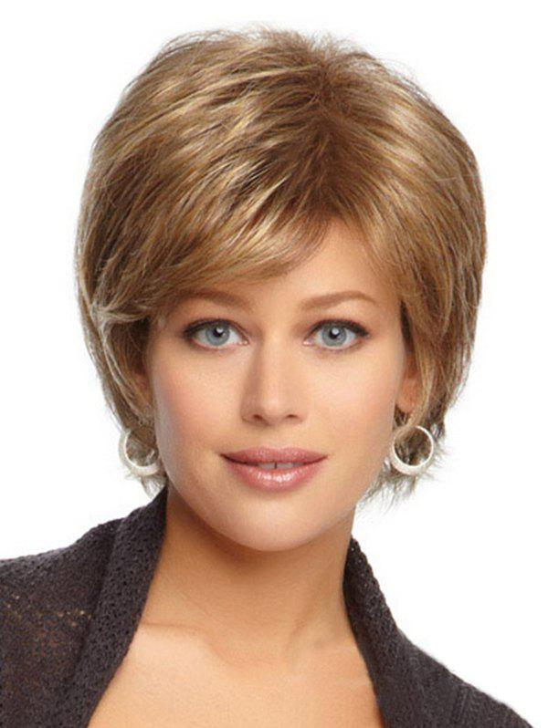 Hot Straight Fluffy Synthetic Side Part Wig