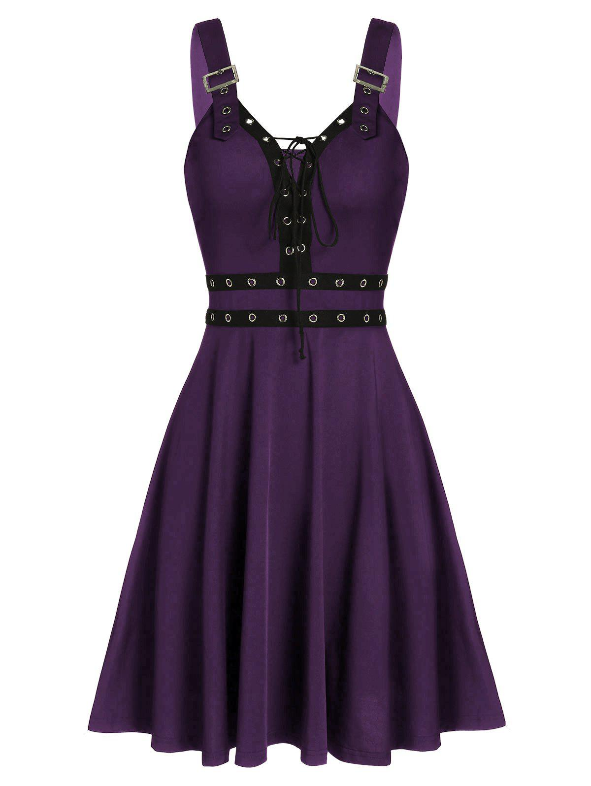 Sale Sweetheart Collar A Line Rings Gothic Dress