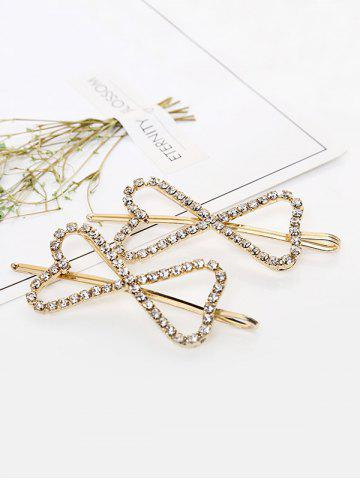 1 PC Rhinestone Hollow Out Bowknot Hair Grip - from $8.03