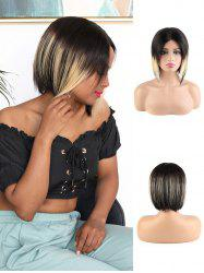 Human Hair Straight Ombre Short Bob Wig -