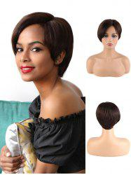 Pixie Cut Human Hair Straight Short Wig -