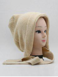 Winter Warm Lace Up Ear Knitted Hat -