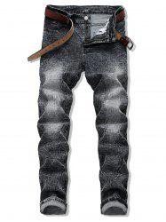 Long Crease Wash Casual Jeans -