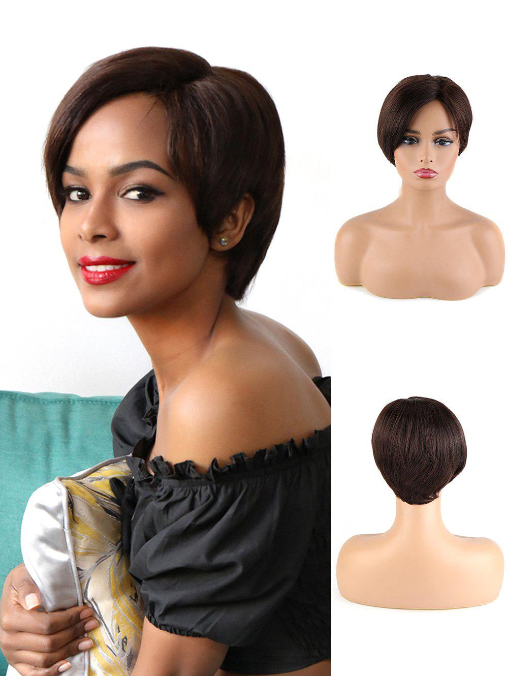 Fancy Pixie Cut Human Hair Straight Short Wig