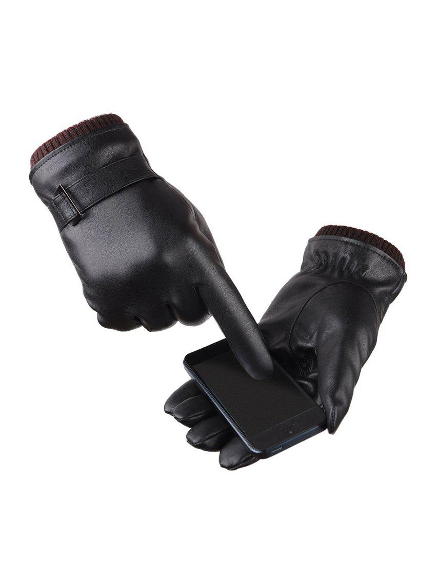 Hot Brief Leather Telefingers Cycling Fleece Waterproof Gloves