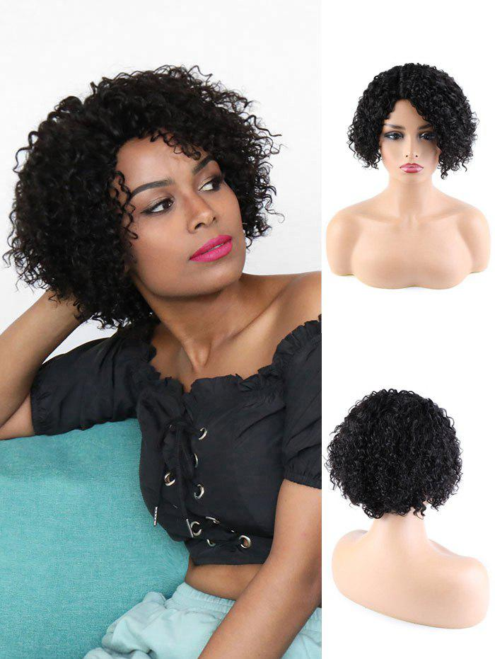 Shop Human Hair Side Part Curly Short Wigs