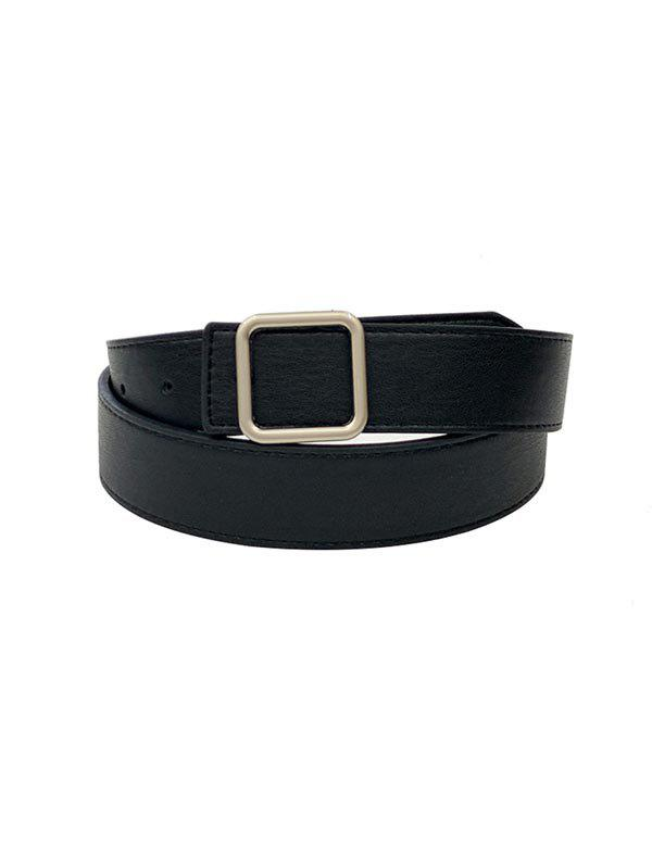 Chic Square Buckle Leather Belt