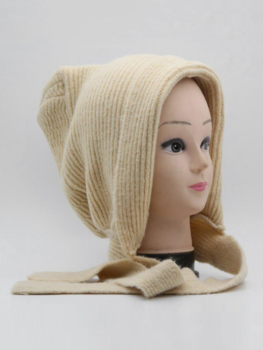 Discount Winter Warm Lace Up Ear Knitted Hat