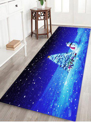 Christmas Tree Gifts Snowman Pattern Water Absorption Area Rug - MULTI - W16 X L47 INCH
