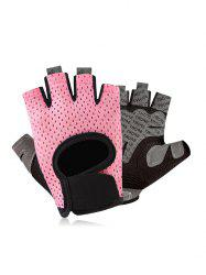 Hollow Fingerless Sports Protection Outdoor Gloves -