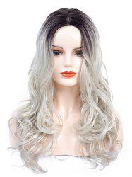 Center Part Ombre Body Wave Synthetic Long Wig -