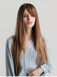 Side Bang Long Straight Ombre Synthetic Wig -