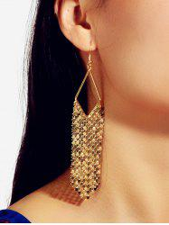 Metallic Fringe Long Drop Earrings -