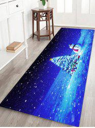 Christmas Tree Gifts Snowman Pattern Water Absorption Area Rug -