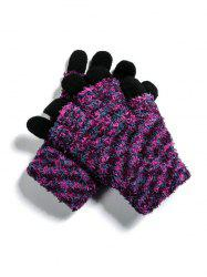 Outdoor Knitted Mix Color Gloves -