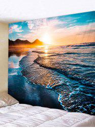 Sunrise Beach Printed Tapestry Wall Hanging Art Decoration -