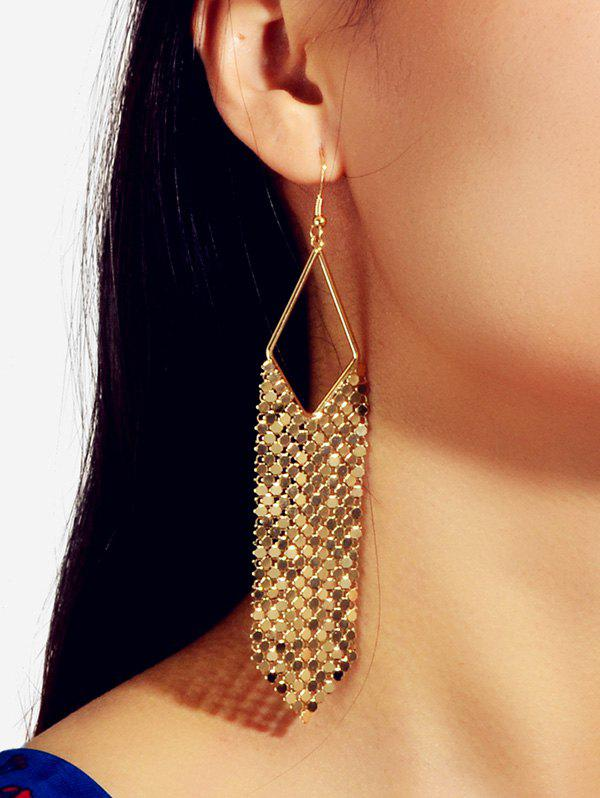 Unique Metallic Fringe Long Drop Earrings