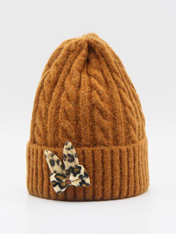 Outfit Winter Knitted Bowknot Design Hat