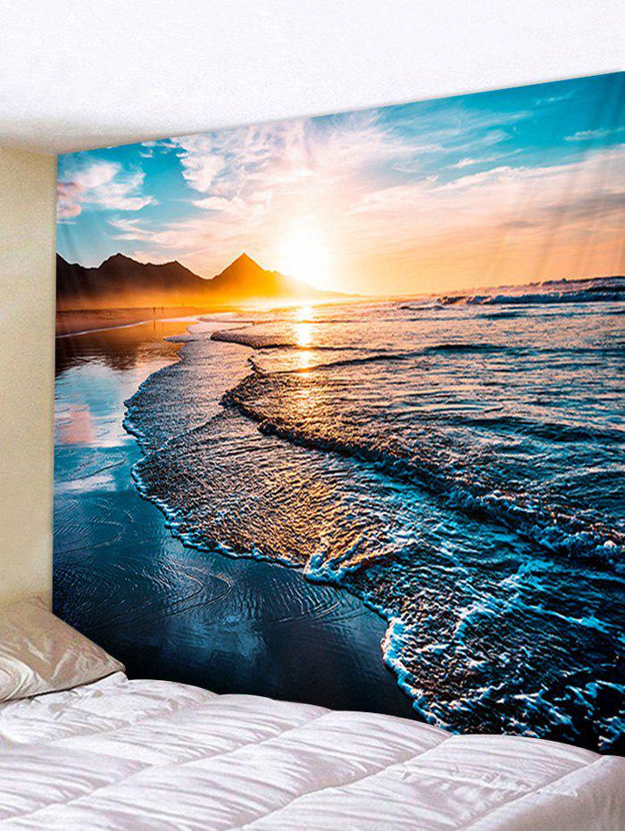 Hot Sunrise Beach Printed Tapestry Wall Hanging Art Decoration