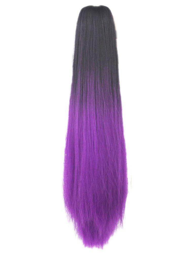 Affordable Long Synthetic Ombre Straight Claw Ponytail