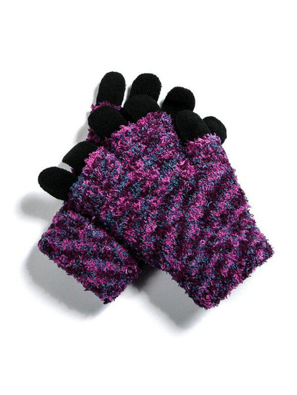 Sale Outdoor Knitted Mix Color Gloves