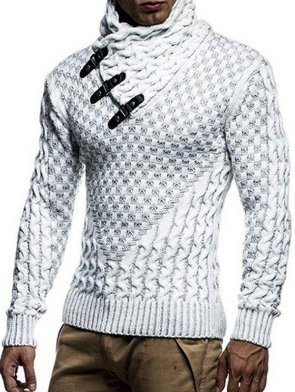 Sale Shawl Collar Snap Button Pullover Sweater