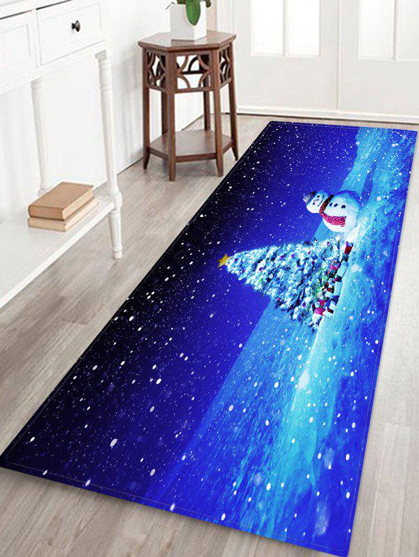 Chic Christmas Tree Gifts Snowman Pattern Water Absorption Area Rug