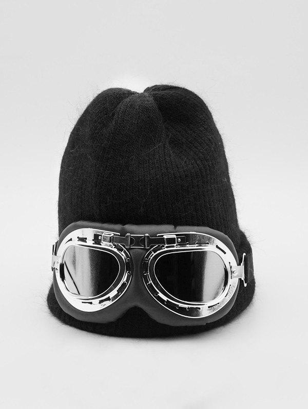 Discount Winter Goggles Decorative Solid Knitted Hat