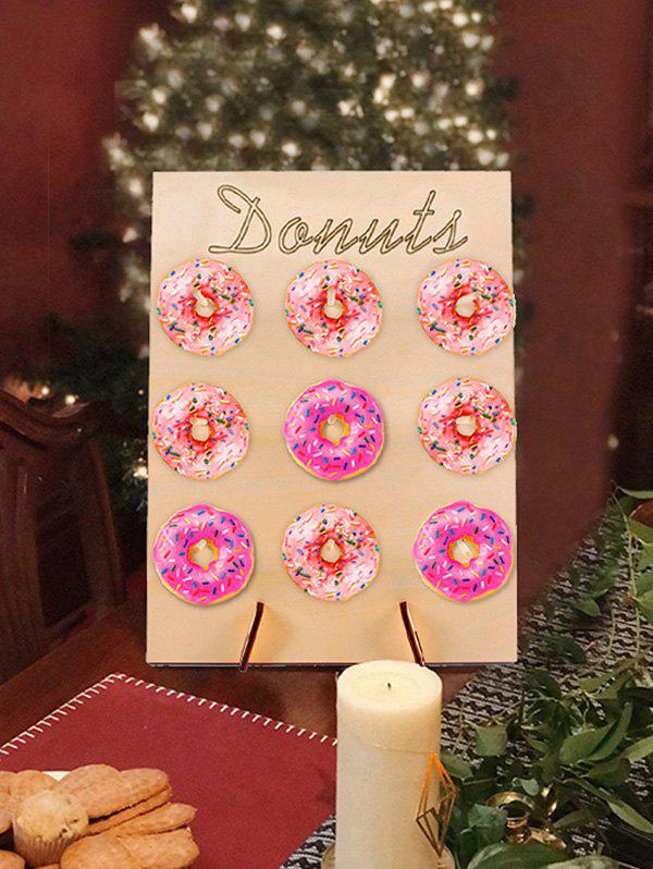 Unique Birthday Wedding Party Decoration Donut Wall Stand Doughnut Sweet Cart Treat Stand