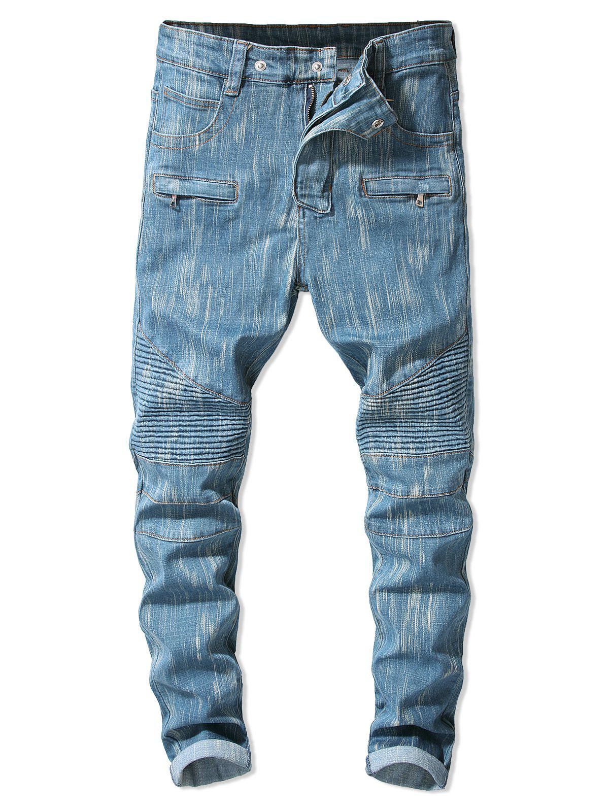 Discount Drape Panel Pocket Zip Fly Jeans