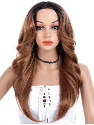 Center Part Wave Long Synthetic Wig -