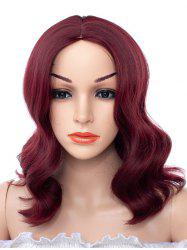 Center Part Synthetic Medium Body Wave Wig -