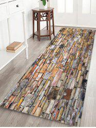 Stone Brick Wall Pattern Water Absorbing Area Rug -