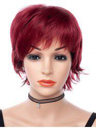 Free Part Short Straight Pixie Cut Synthetic Wig -