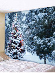 Christmas Tree Forest Printed Tapestry Wall Hanging Art Decor -