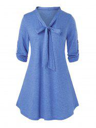 Plus Size Bowknot Tee -