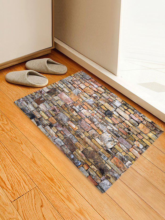 New Stone Brick Wall Pattern Water Absorbing Area Rug