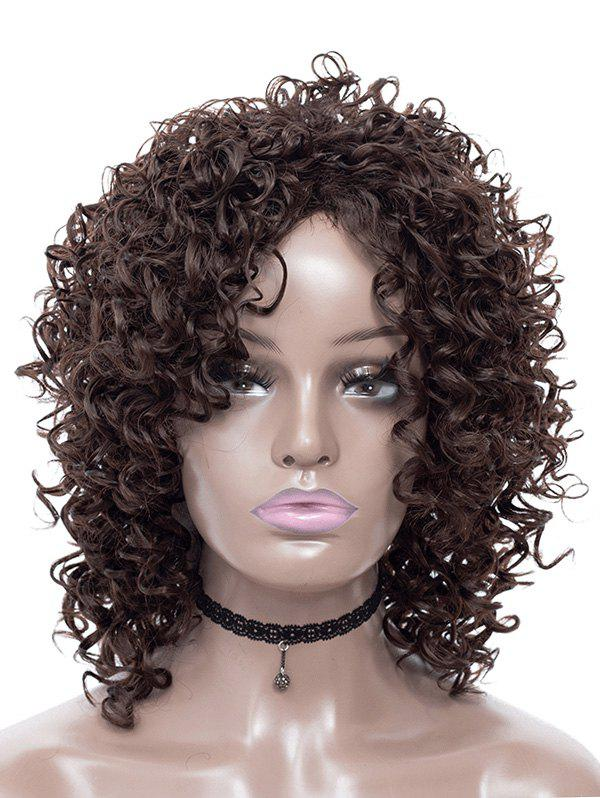 Fancy Afro Curl Fluffy Synthetic Medium Wig