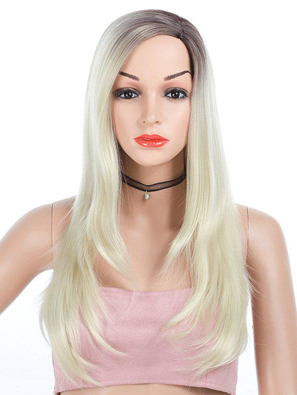 Hot Side Part Straight Ombre Long Synthetic Wig