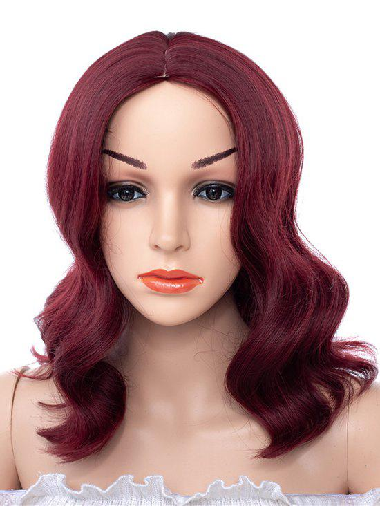Affordable Center Part Synthetic Medium Body Wave Wig
