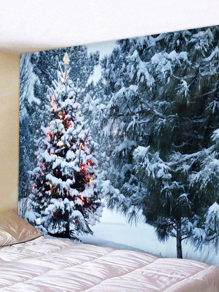 Discount Christmas Tree Forest Printed Tapestry Wall Hanging Art Decor
