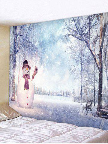 Christmas Snowman Trees Printed Tapestry Wall Hanging Art Decoration - from $15.44
