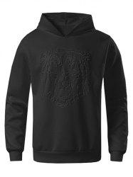 Tiger Embossed Solid Color Sweatshirt -
