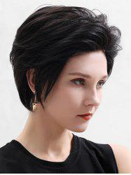 Human Hair Fluffy Short Straight Lace Front Wig -