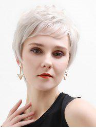Side Part Straight Short Human Hair Lace Front Wig -