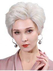 Side Part Straight Fluffy Lace Front Human Hair Wig -