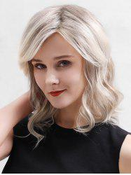 Side Part Medium Wavy Lace Front Human Hair Wig -