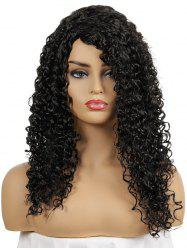 Long Side Bang Curly Synthetic Capless Wig -