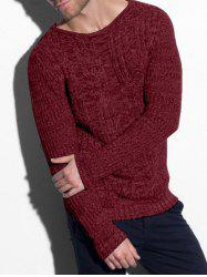 Cable Knit Heather Pullover Sweater -